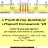 El Projecte de Puig i Cadafalch per a l'Exposició Internacional de 1929, 10 de maig