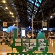 Exposició sobre la modernització del ferrocarril a principi del s. XX, a l'Estació de França