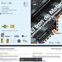 La 7ª Jornada de Patrimoni Ferroviari, sobre el tren de Mataró