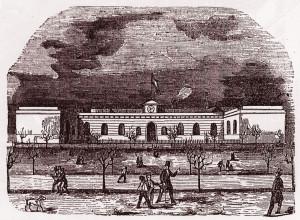 Estació de Barcelona publicat per La Ilustración el 1849