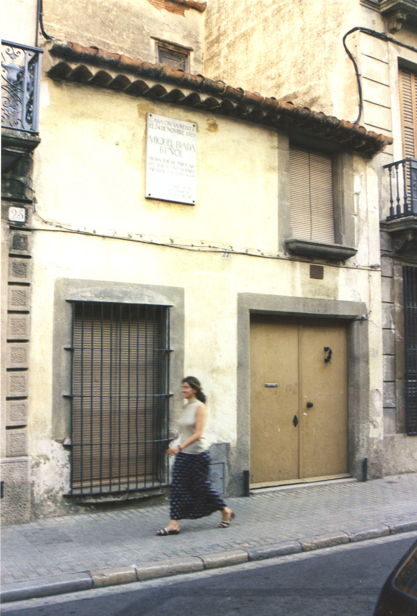 Casa natal de Miquel Biada, al carrer d'Argentona de Mataró