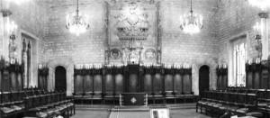 Saló de Cent de l'Ajuntament de Barcelona, on es va celebrar la primera reunió d'accionistes