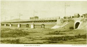 El pont del Be´sos a finals del segle XIX (àlbum Ferran Ros)