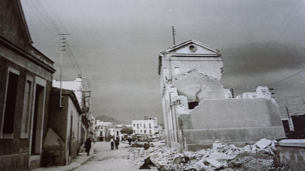 Enderrocament de l'estació de Mataró. Coleccio Vicente Manuel Martínez