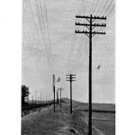 Líneas de comunicació, sistema antic armat vertical (B), i el sistema nou vers 1950 armat horitzontal (A).