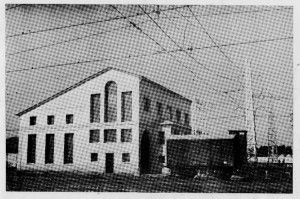 Exterior i interior de la Subestació convertidora AC/DC 1.500 volts de Mataró